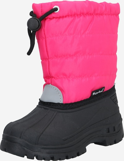 PLAYSHOES Snow boots in Light grey / Pink / Black, Item view