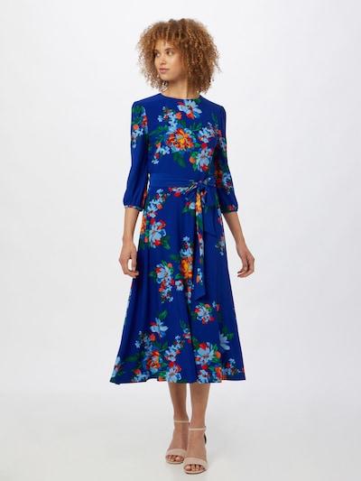 Lauren Ralph Lauren Kleid 'FELIA' in himmelblau / grün / orange / feuerrot, Modelansicht