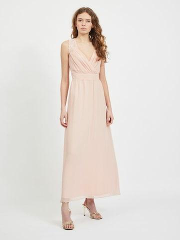 VILA Evening Dress 'Rilla' in Pink