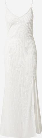LACE & BEADS Večerné šaty 'Mandy' - biela