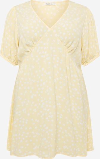Cotton On Curve Jurk 'MIRANDA' in de kleur Geel / Wit, Productweergave