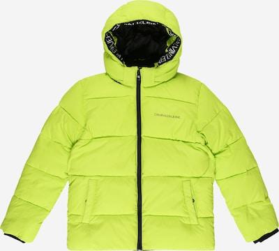 Calvin Klein Jeans Prijelazna jakna u neonsko zelena / crna / bijela, Pregled proizvoda