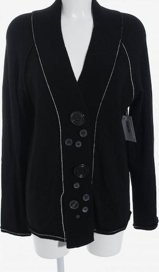 ISCHIKO Strickjacke in XL in schwarz / wollweiß, Produktansicht