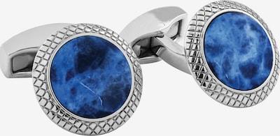 Tateossian London Manchetknopen in de kleur Royal blue/koningsblauw / Zilver, Productweergave