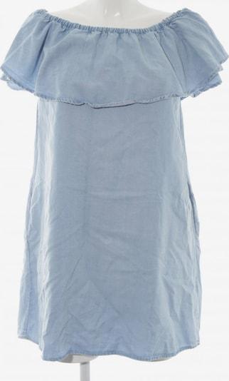 ZARA schulterfreies Kleid in XS in himmelblau: Frontalansicht