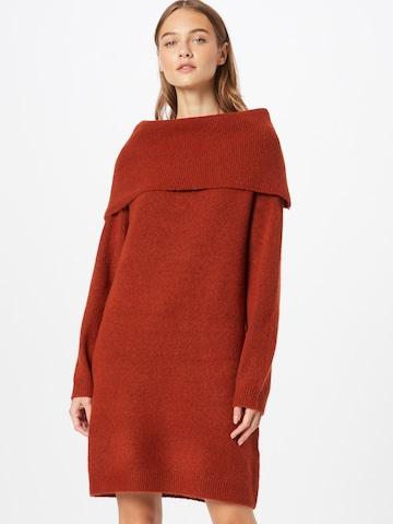 VILA Gebreide jurk 'FLINKA' in Bruin