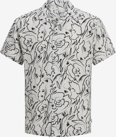 JACK & JONES Skjorta 'Tino' i svart / vit, Produktvy