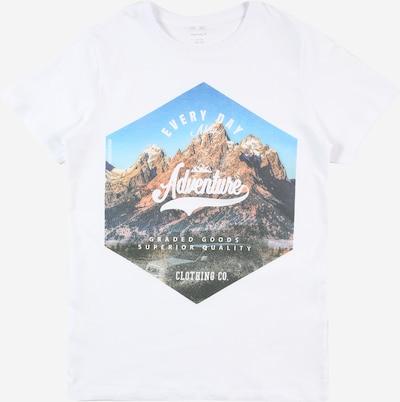 Tricou 'KALMARO' NAME IT pe albastru / maro / negru / alb, Vizualizare produs