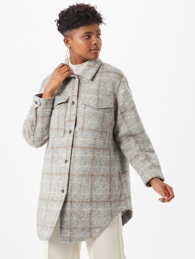 OBJECT Bluse in braun / hellgrau, Modelansicht