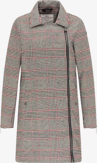 DreiMaster Vintage Manteau d'hiver en gris / rouge / noir, Vue avec produit
