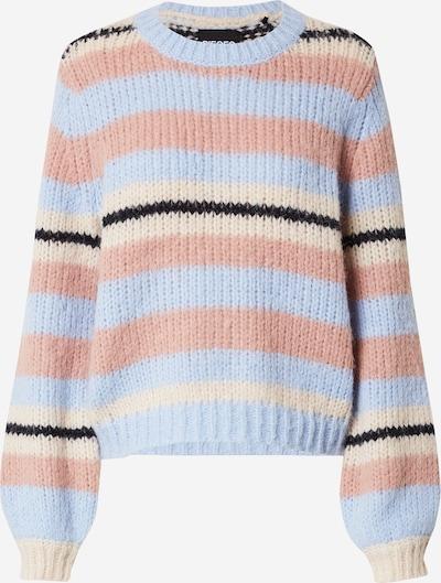 PIECES Sweater 'CARMEN' in Cream / Light blue / Dusky pink / Black, Item view