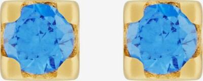 ID Fine Boucles d'oreilles en bleu ciel / or, Vue avec produit