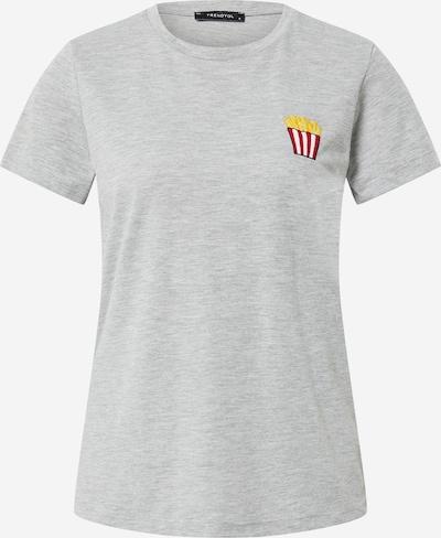 Trendyol T-shirt en jaune / gris clair / rouge / blanc, Vue avec produit