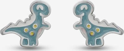 FAVS Ohrringe in rauchblau / gelb / silber, Produktansicht
