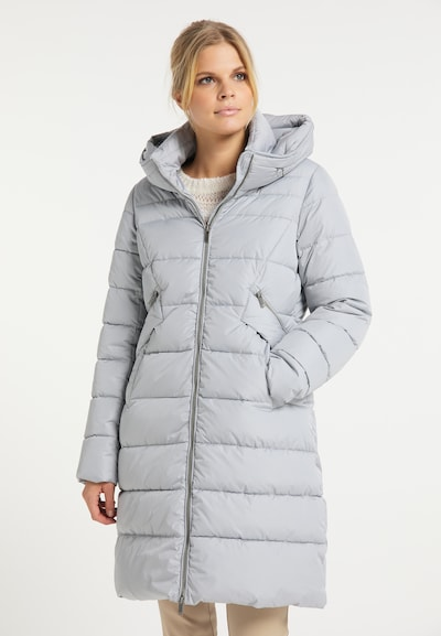 usha WHITE LABEL Wintermantel in de kleur Lichtgrijs, Modelweergave