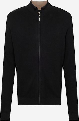 TOM TAILOR Knit Cardigan in Black