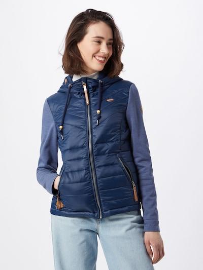 Ragwear Jacke 'Lucinda' in chamois / navy / nachtblau: Frontalansicht