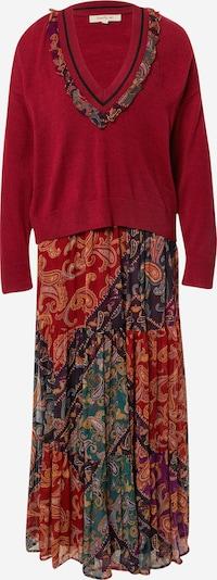 Derhy Robe en mélange de couleurs / bordeaux, Vue avec produit