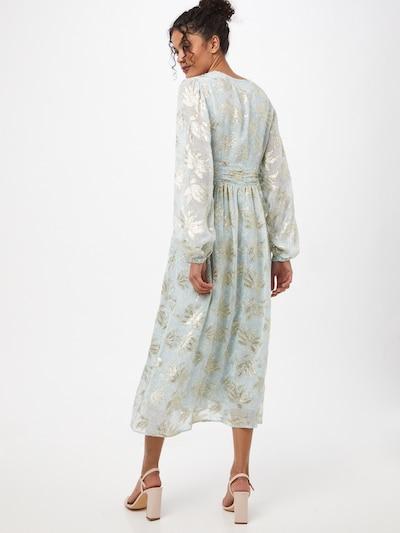 Maison 123 Kleider 'MARGOT' in hellblau / silber / weiß: Frontalansicht