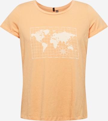 Vero Moda Curve T-Shirt 'REKKI' in Orange