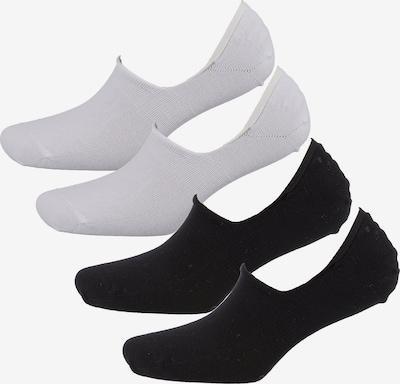 camano Füßlinge 'Kai' in schwarz / weiß, Produktansicht