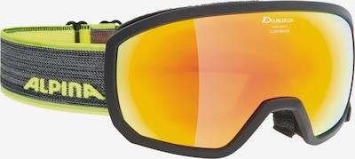 Alpina Sportbrille 'SCARABEO JR.' in neongelb / schwarz, Produktansicht