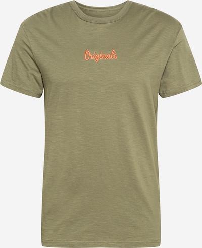 JACK & JONES Koszulka 'STOCKHOLM' w kolorze oliwkowy / pomarańczowym, Podgląd produktu