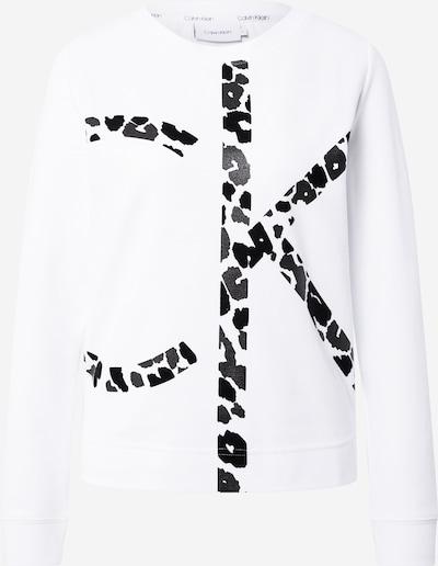 Calvin Klein Sweat-shirt en noir / blanc, Vue avec produit