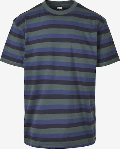 Urban Classics Shirt in blau / navy / dunkelgrün, Produktansicht