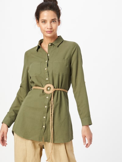 Hailys Bluse 'LS C BL Larissa' in khaki, Modelansicht