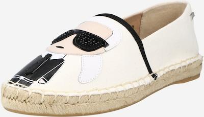 Karl Lagerfeld Espadrilles 'KAMINI' en beige / noir / blanc, Vue avec produit
