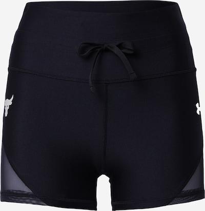 UNDER ARMOUR Sporthose 'Prjct Rock' in schwarz / weiß, Produktansicht