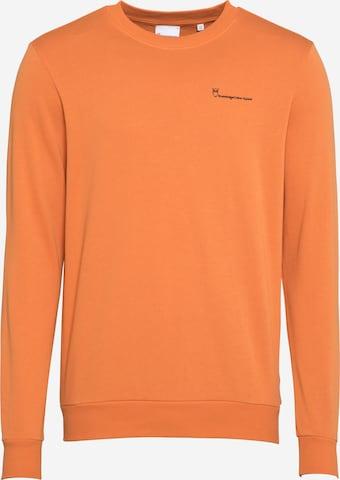 KnowledgeCotton Apparel Sweatshirt 'ELM' i oransje