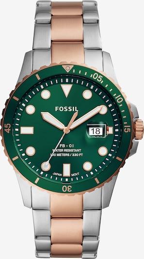 FOSSIL Analógové hodinky - ružové zlato / zelená / strieborná, Produkt