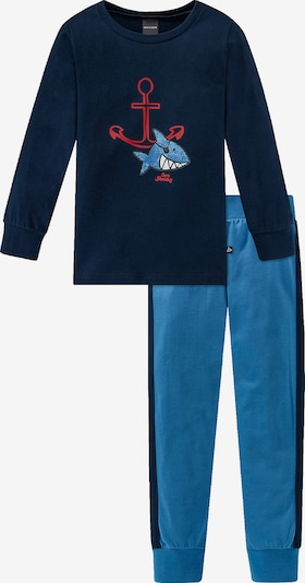 SCHIESSER Schlafanzug in blau / nachtblau, Produktansicht