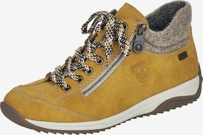 RIEKER Athletic Lace-Up Shoes in mottled beige / Lemon / Black / Silver, Item view