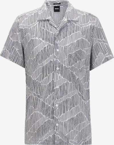 HUGO BOSS Kurzarm Freizeithemd in weiß, Produktansicht