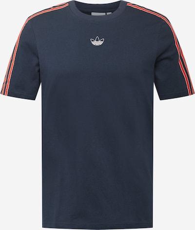 ADIDAS ORIGINALS Shirt in dunkelblau / feuerrot / weiß, Produktansicht