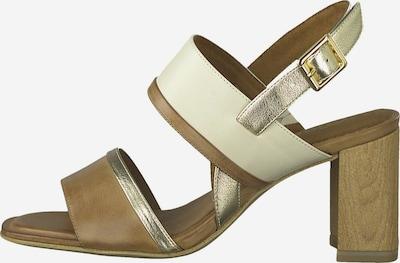TAMARIS Sandale in creme / braun / silber, Produktansicht