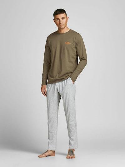 JACK & JONES Loungewear in hellgrau / oliv, Modelansicht