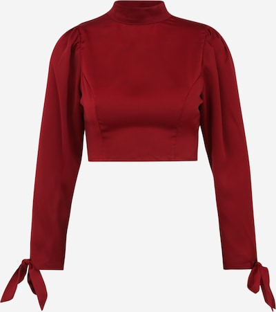 Missguided Petite Bluse in weinrot, Produktansicht