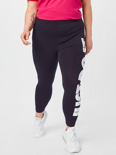 Pantaloni sportivi Nike Sportswear di colore nero / bianco, Visualizzazione modelli