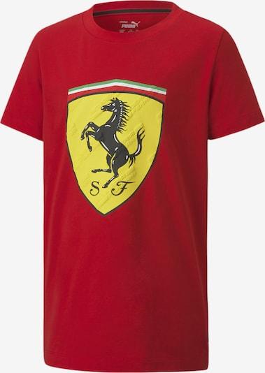 PUMA T-Shirt 'Scuderia Ferrari' in gelb / grün / feuerrot / schwarz / weiß, Produktansicht