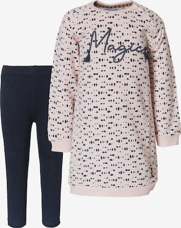 Dirkje Kleid + Leggings in Pink