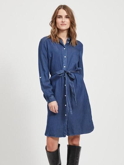 VILA Košeľové šaty 'VIBISTA' - modrá denim, Model/-ka