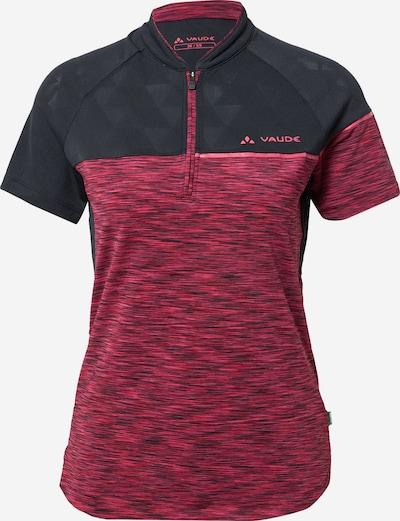 VAUDE Sportshirt 'Altissimo' in himbeer / grenadine / schwarz, Produktansicht