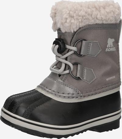 SOREL Snowboots 'YOOT PAC' in hellbeige / schwarz / silber, Produktansicht