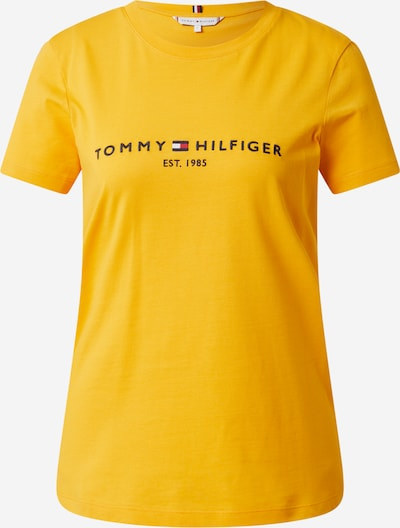 TOMMY HILFIGER T-Shirt in nachtblau / goldgelb / hellrot / weiß, Produktansicht