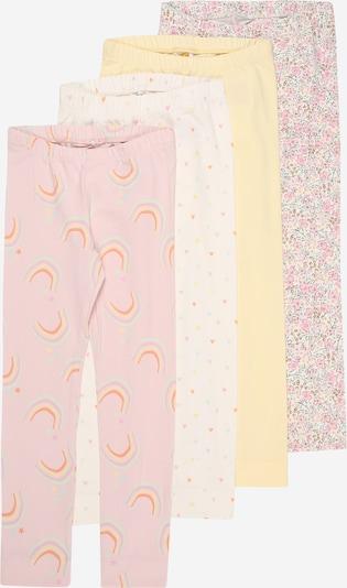 NAME IT Leggings 'BATARAIA' in de kleur Lichtgeel / Lila / Pink / Wit, Productweergave