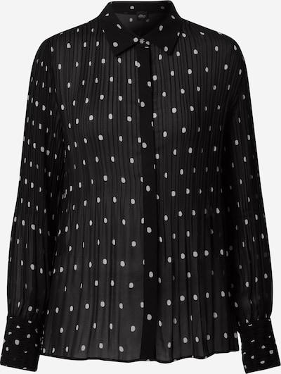 s.Oliver BLACK LABEL Bluse in schwarz / weiß, Produktansicht